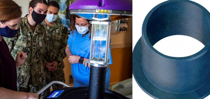 UV robot and plastic bearing
