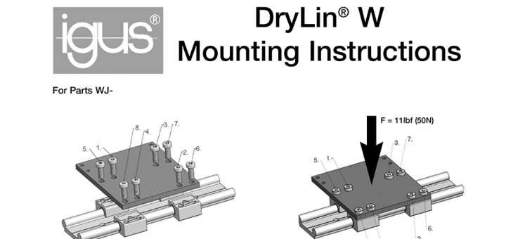 drylin W mounting instructions preview