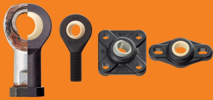 metal vs plastic spherical bearings